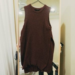 All Saints Sleeveless Knitted Sweater Top Tunic